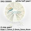 10wheels/lot 4 Sizes White Nail Art Pearl Rhinestone Decoration+Wheel Wholesales SKU:D0005XXX