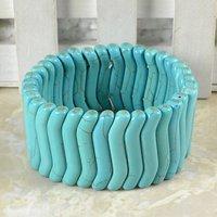 La forma de onda de piedra turquesa Pulseras Envío gratis B022 (China (continental))