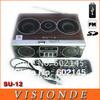 2014 New Portable Speakers Mini Sound Box MP3 player Mobile Speaker Boombox With FM Radio SD Card reader USB SU12 - Sample Black
