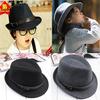 Solid Color Baby Soft Felt Cap Kids Winter Fedora Hat Children Woolen Fedora Kids Dicer Baby Hat LM-0022