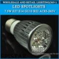 High power led spotlights E27 E14 GU10 B22 12V 85-265V 5W 500LM Warm white ,cool white,Red / green / blue / yellow