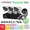 8CH Full D1 HDMI DVR 4PCS 600TVL IR Outdoor Weatherproof CCTV Camera 24 LEDs Home Security System Surveillance Kits