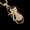 Retail genuine 2G/4G/8G/16G/32G diamond crystal pendrive necklace Cat shape usb flash drive pen drive Drop Free shipping