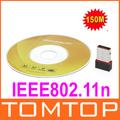5pcs/lot USB Mini WiFi Wireless Adapter Network Card 802.11n 150M C1008 Free Shipping Wholesale