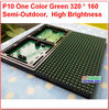 green color p10 module grad a quality 320*160 32*16 hub12 monochrome best price p10 led sign module,p10 single green panel