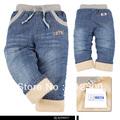 High quality 1 pcs KK-RABBIT brand thick cashmere winter kids Boys baby pants children jeans