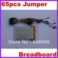 10pcs/lot Mini Solderless 400 point Breadboard + 65pcs Jumper Line Free Shipping Dropshipping