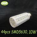 10W, E27 LED corn bulb light ,warm white,pure white, 44pcs SMD 5630 LEDs,high quqlity,High-Brightness,Free Shipping,Wholesale,