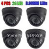 4pcs of lot, Hot Selling, Surveillance 24IR night vision Color IR Indoor Security Dome CCTV Camera free shipping