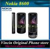Unlocked Original Nokia 8600 Luna cell phone support russian keyboard&language Refurbished