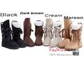 New Arrive 4 color Winter Woolen Lace Up Snow Women Boots Shoes lady