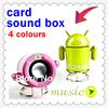 3 Colors Portable Mini USB Loud speaker TF SD Card Voice sound box Android Robot Shape DA0088