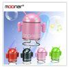 4 Colors Portable Mini USB Loud speaker TF SD Card Voice sound box Android Robot Shape