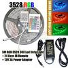 RGB 3528 SMD Flexible Waterproof 300 LED Strip Light + 24 key IR Remote Control + 12V 3A Power Adapter Free shipping!!!