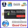 MK809 IV Quad Core TV Box Stick Media Player Google Android 4.4.2 RK3188 2GB RAN 8GB WIFI 1080P HDMI Smart TV Dongle MK809IV