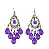 Hot sale individual tassel rhinestone and beads water drop chandelier earrings for women