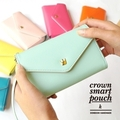 2013 Fashion Crown Smart Pouch upgrade model big capacity purse wallet ,can put the samsung S2, S3 in the bag,10pcs/lot