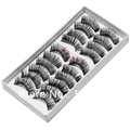 Free shipping 10lot 10pair/1lot New 10 Pair Thick Long False Eyelashes Eyelash Eye Lashes Voluminous Makeup #8472