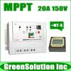 NEW! Max. PV 150V, 20A MPPT Solar Charge Controller Regulator 12V/24V Off-Grid PV System Controller with MT-5 Remote Meter