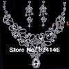 Cheap!!! 100% crystal bridal jewelry sets gorgeous rhinestone jewelry sets wedding dress accessories