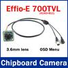 "1/3"" Sony CCD 700TVL 3.6mm Effio-e 4140+811 CCTV Camera Board Chipboard with OSD Menu for Security Camera"