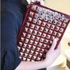 2014 envelope day clutch fashion rivet messenger bag small women's day clutch