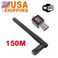 US Stock To USA CA 150M USB WiFi Wireless Network Card 802.11 n/g/b LAN Adapter + Antenna UPS Free Shipping 10Pcs/Lot Wholesale