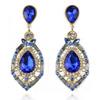 luxury elegant ocean blue rhinestone big fashion drop earrings 2014 Hot Sell Vintage Earings Accessories ER-016054