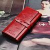 100% Oil Waxing Cowhide Wallet For Women Long Designer Multi-card Wallet Holder Women Leather Genuine Purse Free Shipping