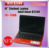 F free shipping mini pc kids laptop computer 2G/750G Intel Atom Processor D2500 (1M Cache 1.86GHz) windows 7