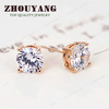 Top Quality ZYE371 Elegant Crystal 18K Gold Plated Earring Austrian Crystal Wholesale Rose GOLD color