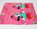 "Free shipping Cartoon ""minnie"" baby coral fleece sleeping blanket bedding sheet stroller blanket towel soft 125*150CM"