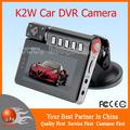 "K2W Car DVR Recorder 2.7"" TFT LCD 4x digital zoom 170 degree High-resolution wide angle lens HDMI IR Night Vision"