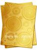 Free shipping African headtie,Head Gear, Sego Gele&Ipele,Head Tie & Wrapper, 2pcs/set ,GOLD