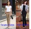 Free shipping 2013 Autumn-Summer Women OL high Waist Street Overalls formal Work Pants western-style trousers Plus Size XS-XXXL