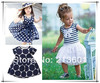 Free shipping Baby dress/ Baby clothes/ Children sleeveless dress wholesale and retail baby clothes in stock