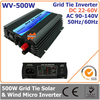 500W DC 22-60V AC 90-140V Grid Tie Micro Inverter Used in Solar or Wind Power System for Home Use