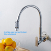 Free Shipping! In wall mounted brass kitchen faucet. fold expansion. DIY kitchen sink tap. Washing machine faucet 1pcs BR-9104