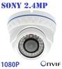 New ! Sony 2.4 Megapixel 48LEDS Security Camera ONVIF 1080P Full HD Vandalproof Dome IP Camera SONY Sensor IR Night Vision