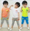 children clothing set girls/boys set baby sets short  tshirt+pants 2 pcs set  clothes kids suit 2-7Years