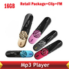 Screen Mp3 music Player 16G,FM+Record,152 Digital+Record,With Clip+Retail Package+can have logo 5 Colors