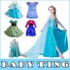 Hot Frozen Dress Elsa & Anna For Girl Princess Cosplay Dresses Cartoon Red Cape Brand Girls Children Clothes Kids Drop Shipping