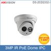 Hikvision IP camera DS-2CD2332-I Lens(2.8,4,6 optional) 3MP HD 1080P Dome Network Camera Infrared CCTV camera POE IP66