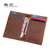 Free shipping 2014 New Design Genuine Crazy Horse Leather ID Credit Card Holder Card Case Wallet