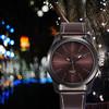Hot sale 2014 dropship fashion gift clock quartz analog big dial for women ladies reloj wristwatches leather strap watches