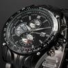 CURREN Calendar Date Display Clock Black Dial Sport Quartz Men Full Steel Wristwatch Male Fashion Men Casual Watch / CUR022