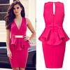 2014 New Fashion Women Dress Hight Street Casual Career Dress Vestidos Femininos OL Formal Ruffle Eelegant Office Dress HW0201