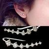 Top Quality 2015 New Four-Prong Setting 7pcs CZ Diamonds 18K Gold Plated Ear Hook Stud Earrings Jewelry ZYE534 ZYE548
