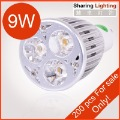 Hot Sale Free Shipping [Sharing Lighting] Dimmable/Non-Dimmable AC110-240V 9W GU10 Led Lamp Cup,9W Led Bulb,Gu10 Led Spotlight