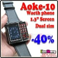 AK10+ watch phone Numberic Keyboard Dual Sim Cards Camera+1.3 inch full touch screen